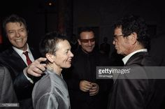 David Bowie, Laurie Anderson, Bono and Lou Reed during : Lou Reed is Awarded George Arents Pioneer Medal, Syracuse University's Highest Alumni Award at W New York Union Square in New York City, New York, United States. (Photo by L. Busacca/WireImage) - 2007