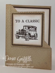Dawn Griffith: SU Fathers Day Fancy Fold Card - Guy Greetings - Boho Chic EF