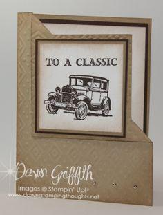 Dawn Griffith: SU Fathers Day Fancy Fold Card - Guy Greetings - Boho Chic EF