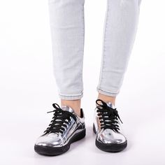 Pantofi sport dama Jules argintii Sneakers, Casual, Shoes, Fashion, Tennis, Moda, Slippers, Zapatos, Shoes Outlet
