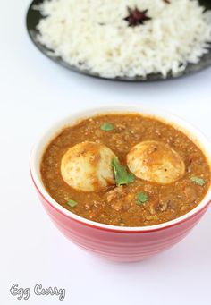 Egg curry recipe - collection of easy spicy egg curry recipes in punjabi style, south Indian style, restaurant style - serve with rice ,bread, chapathi