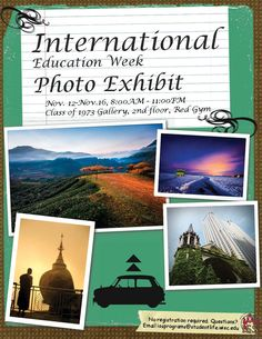 International Education Week Photo Exhibit  November 12-16, 2012