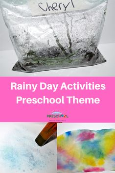 Rainy days can be fun too! Bring the rain indoors with this cute Preschool Rain Theme!