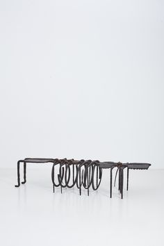Wife? Bench Forged iron, copper 222 x 57 x 51 cm One-off Black Clay, Forging Metal, Forged Steel, High Carbon Steel, Stoneware Clay, Bronze Age, Old Art, Ancient Art, Blacksmithing