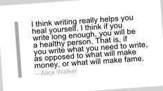 Writing Quote by Alice Walker