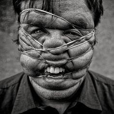 Rubber Band Face 2 by Phil Kneen(www.philkneen.com) on Flickr.