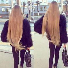 Marabou & long hair <3