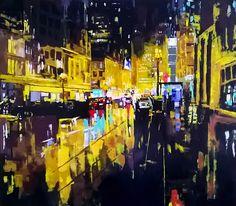 NYCity-Night Mod de realizare: acrylic pe panza (cutit) Dimensiune: cm Lucrare disponibila NYCity-Night Technique: acrylic on ca. Times Square, Paintings, Travel, Art, Art Background, Viajes, Paint, Painting Art, Kunst