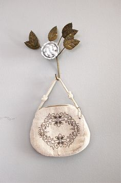 vintage beaded purse / 1930s beaded bag