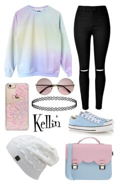 """""""Untitled #105"""" by bandsdestroyamylife on Polyvore featuring Converse, Skinnydip and La Cartella"""