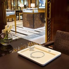 """""""In the exclusive VIP room of Graff's opulent new Harrods boutique, over 190 carats of Graff diamonds scintillate majestically. In the foreground, 49 round…"""""""