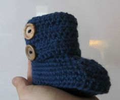 """Mom in """"exile"""": My recipe for crochet uggs / baby slippers / ballerinas"""
