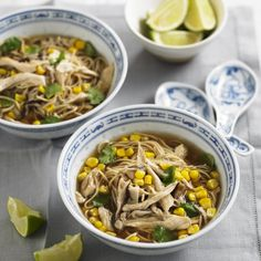 Chicken and Sweetcorn Noodle Soup - Woman And Home
