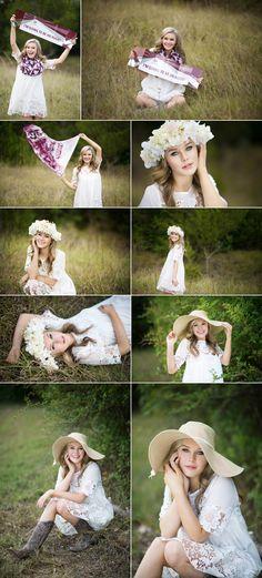 GABBI | Newton High School | 2016 Senior  Amanda Holloway, senior girl, floral crown, senior girl pose, college, A&M, sun hat, floppy hat, senior girl in field, the woodlands, houston, senior photographer  www.amandaholloway.com