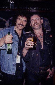 Tony Iommi (Black Sabbath) and Lemmy Kilminster (Motörhead) Heavy Metal Music, Heavy Metal Bands, Rock Roll, Hard Rock, Metallica, Tribute, Ozzy Osbourne, Punk, Thrash Metal