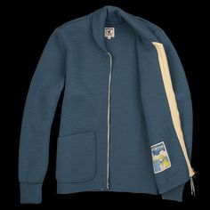 Arpenteur | Wool Roscoff Jacket in Blue