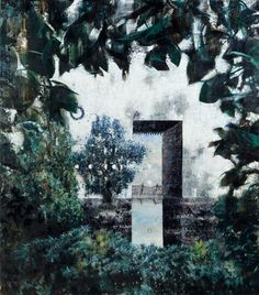 Michael Kunze, Schlag auf innere Uhr/Ausgang - Painting by Michael Kunze