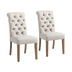 Worldwide Melia Dining Chair - Beige - Set of 2 - reward miles Dining Chairs, Beige, Furniture, Home Decor, Decoration Home, Room Decor, Dining Chair, Home Furnishings, Arredamento