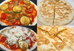 Deze pizzadilla's zijn snel klaar en eenvoudig te bereiden. De pizza wordt belegd met een topping naar keuze en om het af te maken geraspte kaas ohja, deze maak je gewoon in een koekenpan.