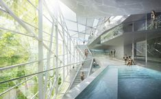 New Paracelsus Spa and Pools in Salzburg Winning Proposal / HMGB Architects