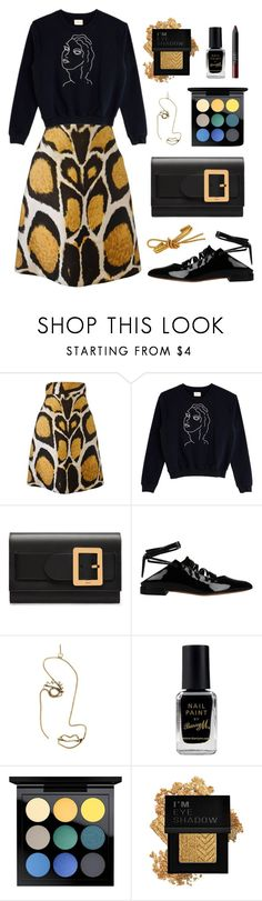 """""""Untitled #59"""" by yszcathy ❤ liked on Polyvore featuring Giles, Paloma Wool, Bally, Givenchy, Rosie Assoulin, Barry M, MAC Cosmetics, Forever 21 and NARS Cosmetics"""