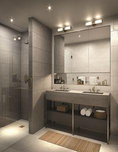1399 Park Avenue in East Harlem, Manhattan Washroom Design, Toilet Design, Bathroom Design Luxury, Bathroom Layout, Modern Bathroom Design, Modern Master Bathroom, Minimalist Bathroom, Small Shower Room, Bath Shower