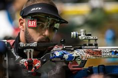Great Britain's Matt Skelhon competes in the R6 - Mixed 50m Rifle Prone SH1 Final at the Olympic Shooting Centre during the Paralympic Games in Rio de Janeiro, Brazil on Wednesday 14th September 2016. / AFP / Simon Bruty for OIS