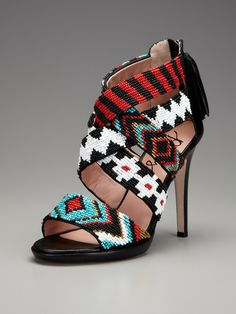 "Fabulous tribal inspired shoes...the key word here is ""inspired."" This actual shoe is the perfect example of misappropriation. If you want to go to a true tribal artist for this type of fabulous shoe, click on the picture and you will go to Walk-N-Beauty, where you can buy them from Native Peoples, instead of those trying to make money from the design of a someone's tribe."