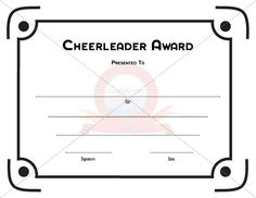 Cheerleader award certificate template pinterest cheerleading choose from hundreds of free printable certificate templates more information more information cheerleader award yadclub Images