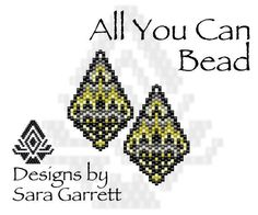 PATTERN ONLY. Create these beautiful peyote earrings. Delica Beads. Odd count with 6 bead colors. 21 bead columns by 25 bead rows. 1.11 wide by 1.75 long. Pattern includes a pattern preview, full bead legend, colored bead graph, complete word graph. Note: I choose the color palette