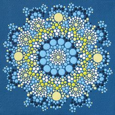 Print of  Blue and Yellow Mandala by joypompeo on Etsy, $15.00