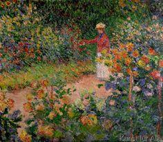 Claude Monet - Garden at Giverny, 1895