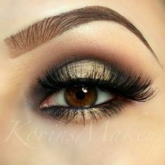 Gold & Black Smokey Eye Makeup