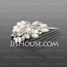 Headpieces - $22.99 - Gorgeous Rhinestone In Alloy Bridal Hair Combs (042016692) http://jjshouse.com/Gorgeous-Rhinestone-In-Alloy-Bridal-Hair-Combs-042016692-g16692