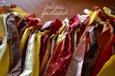 miskabelle vintage: DIY: Fabric Scrap Garland