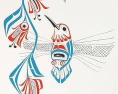 Hummingbird (1978) by Glen Rabena, Adopted Haida artist (GR1978-01)