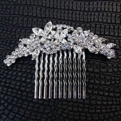 Butterfly Vintage Style Hair Comb for DIY Birdcage Veil or Fascinator - Art Deco Wedding Hair - made with Swarovski Crystal Prom Jewelry