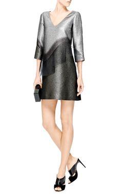 Organza-Trimmed Metallic Ombre Mini Dress by Marc Jacobs - Moda Operandi