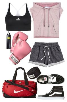 """""""Boxing"""" by llavenderdreams77 ❤ liked on Polyvore featuring H&M, adidas, Vans, Everlast and NIKE"""