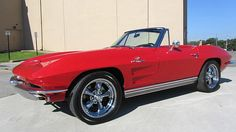 Listing of the newest collector or classic car lots that will be crossing the block at an upcoming Mecum Auction event. Old Corvette, Chevrolet Corvette, Chevy, Classic Hot Rod, Classic Cars, My Dream Car, Dream Cars, American Racing Wheels, Little Red Corvette