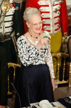La reine Margrethe II de Danemark à Fredensborg, le 13 avril 2016