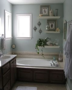 Bathroom Ideas For Small Bathrooms, shelves like this are available at canadian tire we could spray paint them to match colors. another inexpensive option.