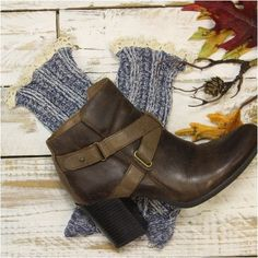 Our denim tweed short lace boot socks may just be the perfect MADE in USA socks…