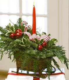 Christmas sleigh centerpiece..perfect for the kitchen table or a side table