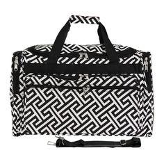 World Traveler Greek Key Travel Duffel Duffle Bag Travel, Duffel Bag, Gadget, Lightweight Luggage, Go Bags, Greek Key, World Traveler, Travel Luggage, Travel Accessories