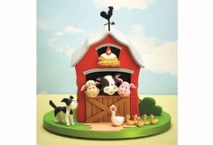 Farmyard cake by Debbie Brown