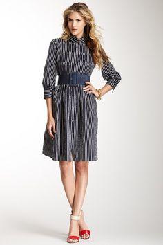 Armani Collezioni Pintuck Dress