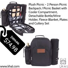 Its the time to Travel 💝💝 Plush Picnic - 2 Person Picnic Backpack / Picnic Basket with Cooler Compartment, Detachable Bottle/Wine Holder, Fleece Blanket, Plates and Cutlery Set  https://www.khal.com/products/plush-picnic-2-person-picnic-backpack-picnic-basket-with-cooler-compartment-detachable-bottle-wine-holder-fleece-blanket-plates-and-cutlery-set  For more picnic items -- > https://www.khal.com/pages/international-picnic-day  #khal #khal.com #travel #picnic #internationalpicnicday…