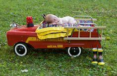 Newborn firefighter photography