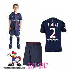 Promo Maillot Du Paris Saint-Germain Bleu Enfant (T SILVA 2) Domicile 2016/2017…
